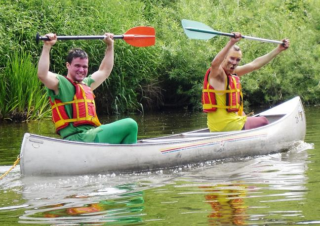 Outdoor Activities - Canoeing and Kayaking in the Forest of Dean - Stag Party Canoeing in Gloucestershire