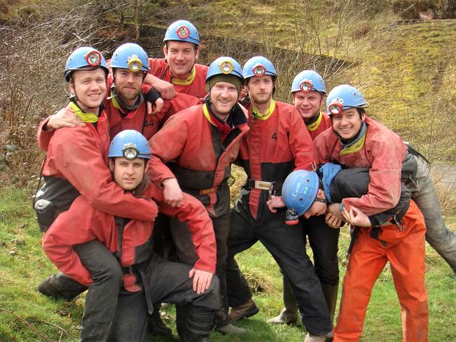 Stag party - Caving in  Gloucestershire