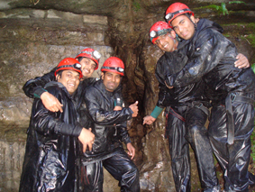 Outdoor Activities - Caving in Monmouthshire - Stag group in Wales