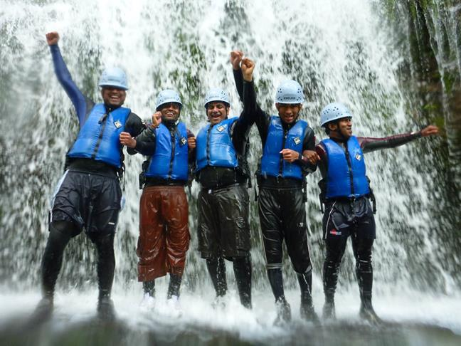 Gorge walking group - Gorge Walking at Dinas