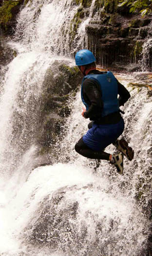 Gorge walking in Wales and the Brecon Beacons