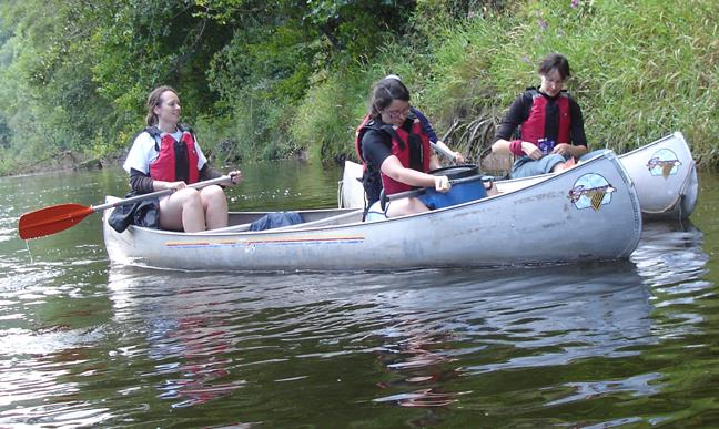Hen Party Canoeing in Monmouthshire