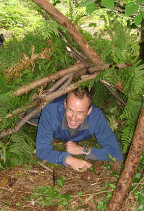 Survival Training and Bushcraft - Shelter Building