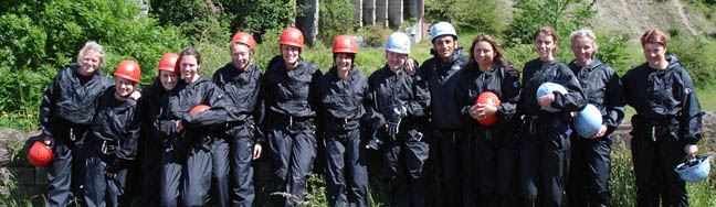 Gorge Walking Hen Party in Wales