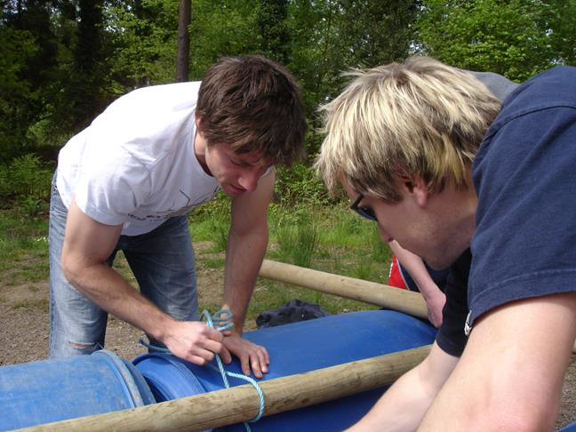 Raft Building in Gloucestershire - This could be you.
