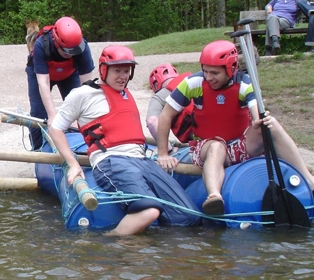 Raft Building - Raft Building in the Forest of Dean